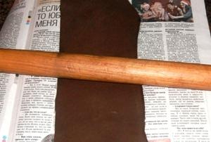 Подготовка кожи для ножен