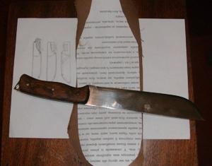 Выкройка для изготовления ножен