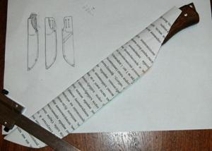 Эскиз ножен
